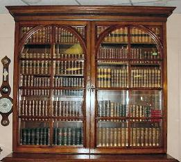 Victorian-bookcase-walnut